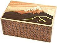 箱根寄木細工 秘密箱10回仕掛け 雷富士と椿