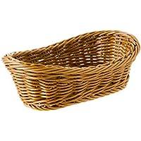 DCAH ストレージバスケット模造籐プラスチック手作りのバスケットデブリ保管バスケット化粧仕上げのバスケット Laundry basket (サイズ さいず : 19 * 13 * 8cm)