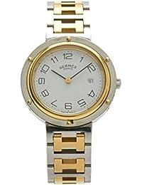 [エルメス] HERMES クリッパー 30mm ホワイト文字盤 SS GP コンビ ボーイズ ユニセックス クォーツ 腕時計