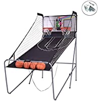 インドアバスケットボールArcade Gameダブル電子フープショット2 Player 4 Balls + FREE E – ブック