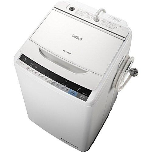 日立 8.0kg 全自動洗濯機 ホワイトHITACHI ビートウォッシュ BW-V80A-W