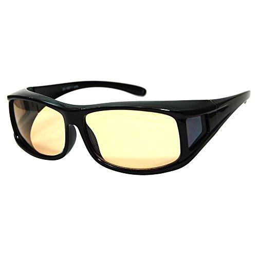 SEAGULL(シーガル) 運転用サングラス 眼鏡対応モデル DG-5001-1 UV99%カット 目に優しい薄色偏光レンズ採用 ブルーライト62%カット オーバーグラスタイプ(眼鏡対応) 衝撃に強いポリカーボネート製フレーム採用 DG-5001-1