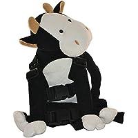 迷子防止 ぬいぐるみ 赤ちゃん歩行補助 アニマルハーネス 迷子紐 アウトドア安全ベルト付 (牛)
