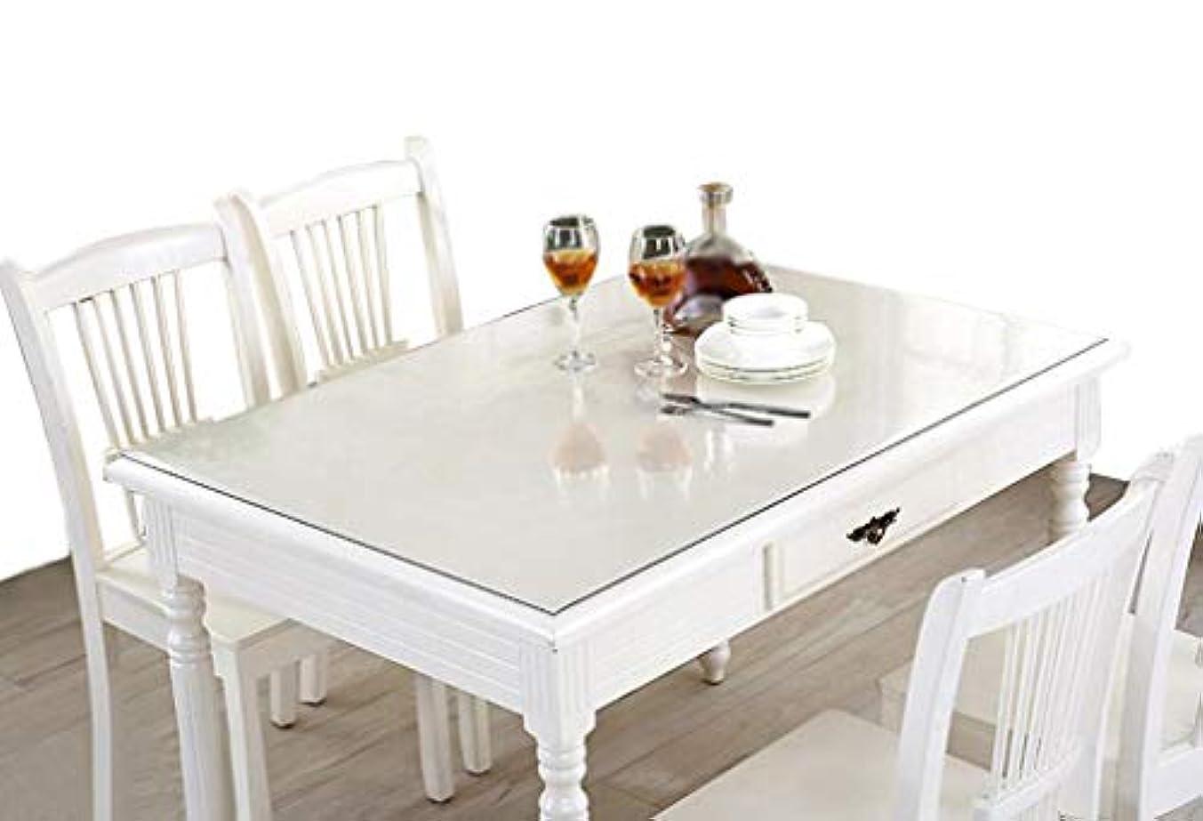 露出度の高い報酬の正確なIVEGLA キッチン用品 テーブルクロス PVC製 透明 厚さ1.5MM デスクマット テーブルクロス 長方形 防水 耐久 汚れ防止