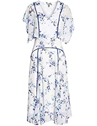 (チェルシー28) CHELSEA28 women`s Floral Flutter Sleeve Midi Dress花のフラッタースリーブミディアムドレス(並行輸入品)