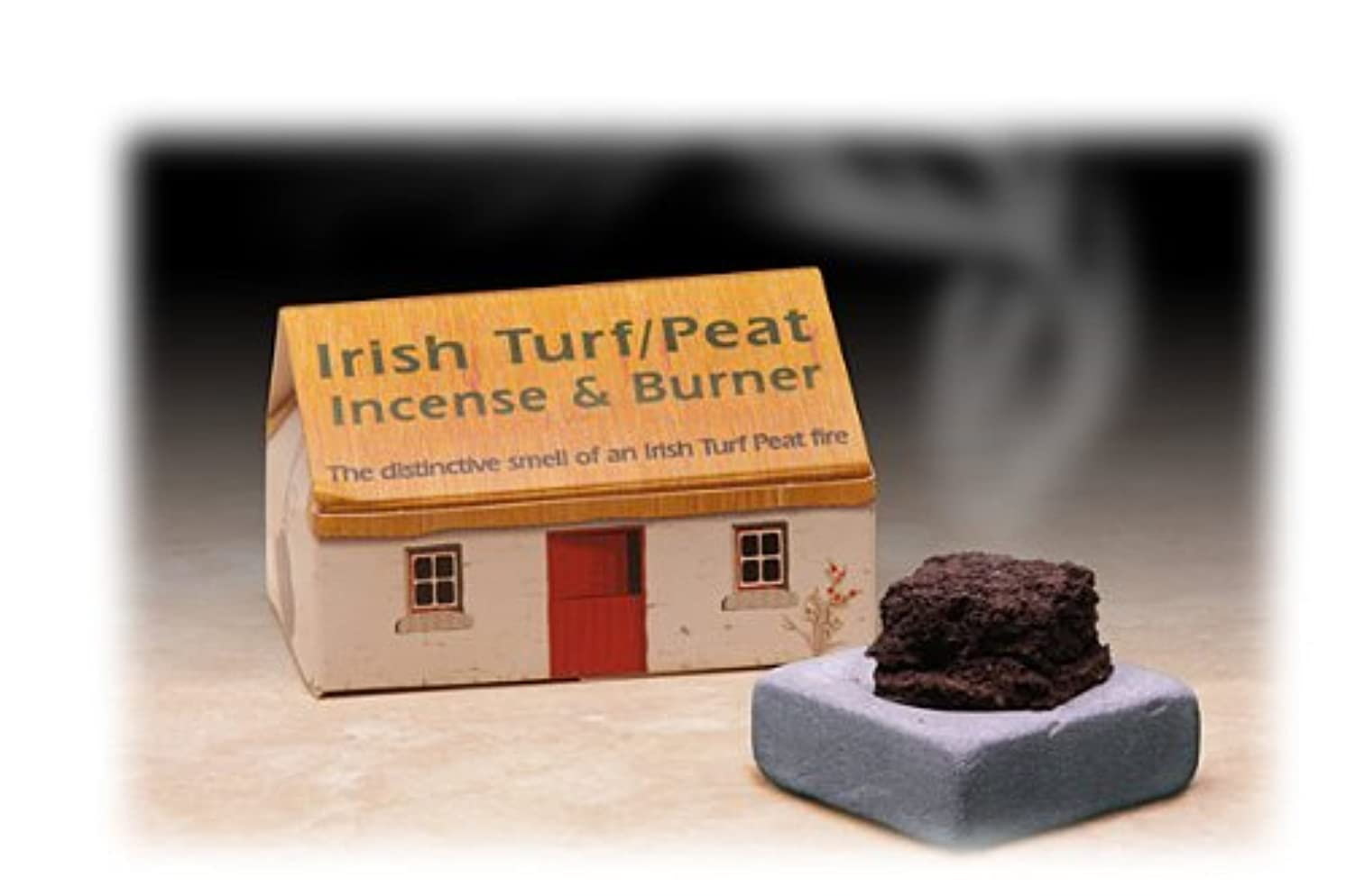 Irish Turf/peat Incense And 3.8cm Sq Burner Plate,beige, New