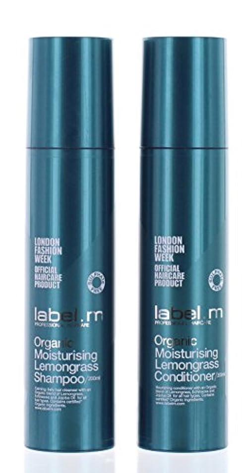 Label.mオーガニックモイスチャライジングレモングラスシャンプー&コンディショナーデュオ(各6.8オンス)。 Label.mによって
