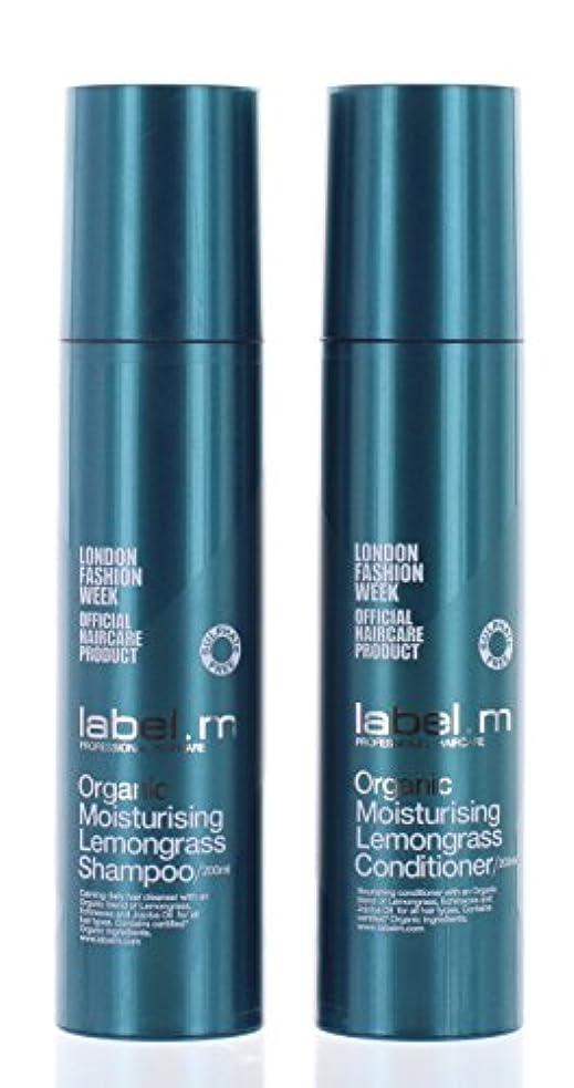 添加剤思春期レールLabel.mオーガニックモイスチャライジングレモングラスシャンプー&コンディショナーデュオ(各6.8オンス)。 Label.mによって
