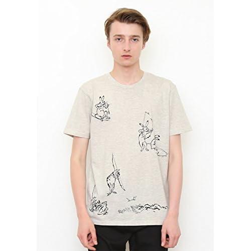 ( グラニフ ) graniph ベーシック Tシャツ / 弓矢 ( 鳥獣戯画 ) ( ヘザー ナチュラル ) L