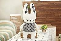 うさぎ ユニコーン くま毛糸の人形 おもちゃ まくら 誕生日 プレゼント 30*40cm/250g b