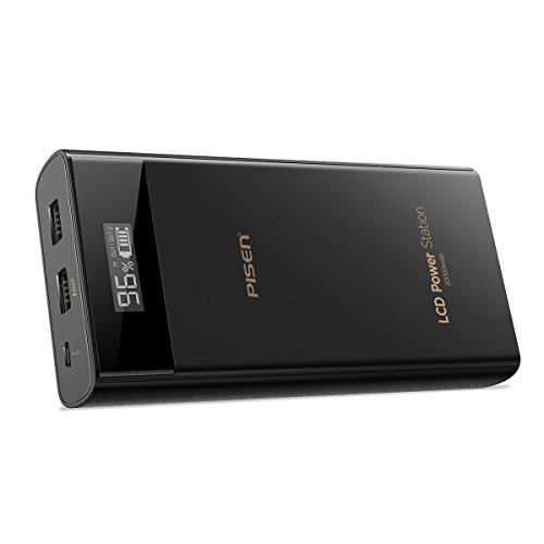 PISEN 20000mAh モバイルバッテリー 超大容量 持ち運び充電器 2USB出力ポート スマ...