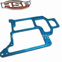 1 ピース HSP RC 1/10 スケールモデルアップグレード 108065 188065 コンパクトアルミ合金ラジオトレイ 02069-青い