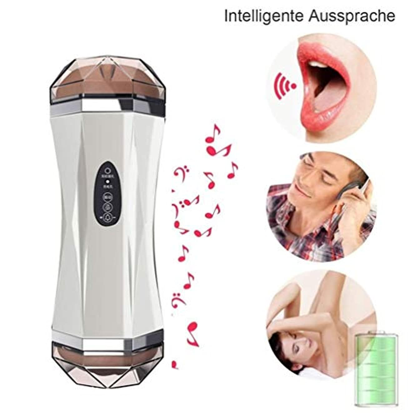 トリプルビジュアル黄ばむWoouu 現実的な玩具口腔しゃぶり安全で柔らかいシリコーン素材USB充電女性唇の形男性持久力トレーナー