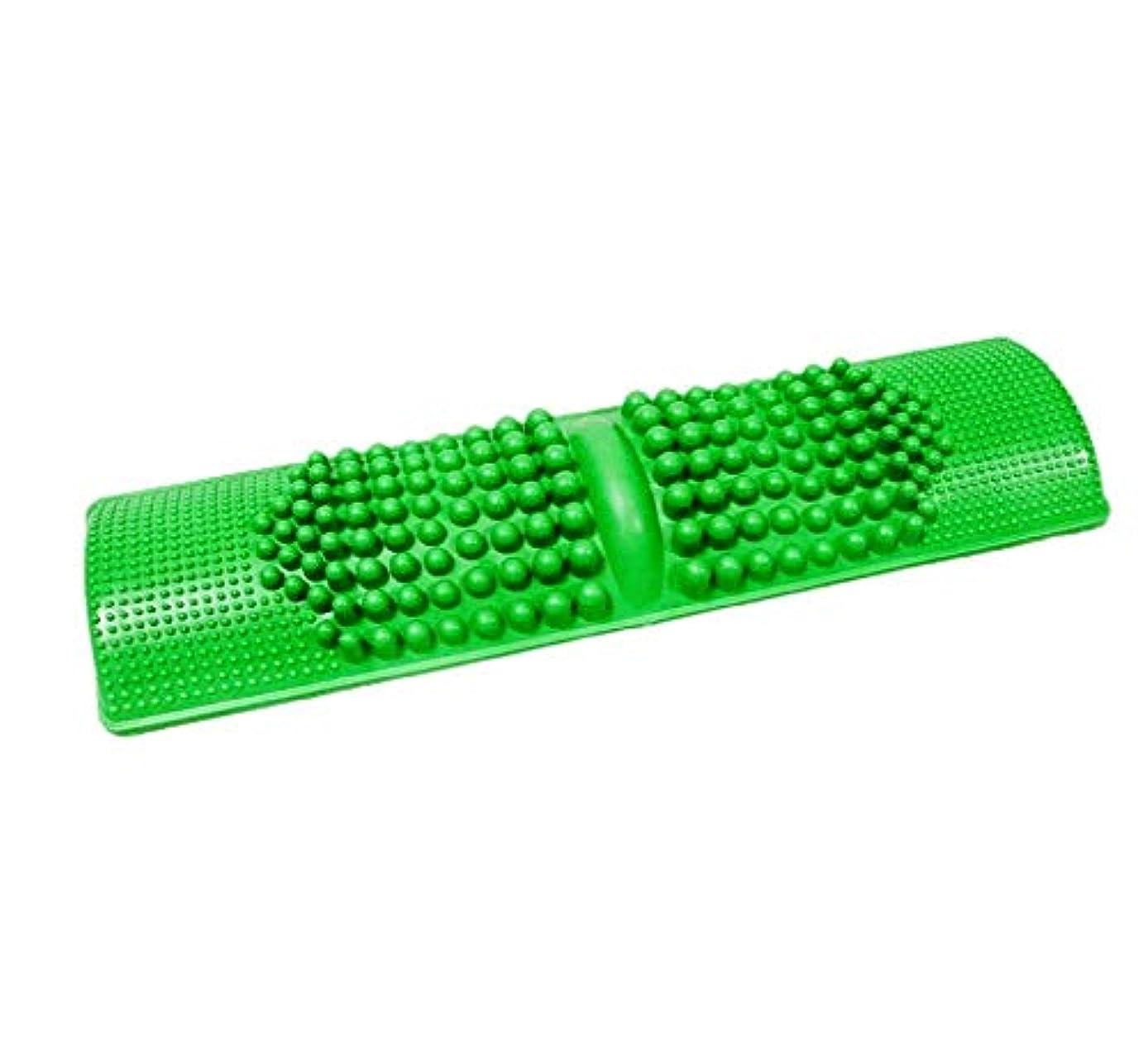 簡単に健康維持 BIGサイズ 足つぼマッサージ 足 踏み 足裏 刺激 血行促進 (グリーン)