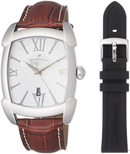 [オロビアンコ] 腕時計 TIME-ORA レッタンゴラ ブランド公式PUバンドノベルティ付き OR-0012-1PU 正規輸入品