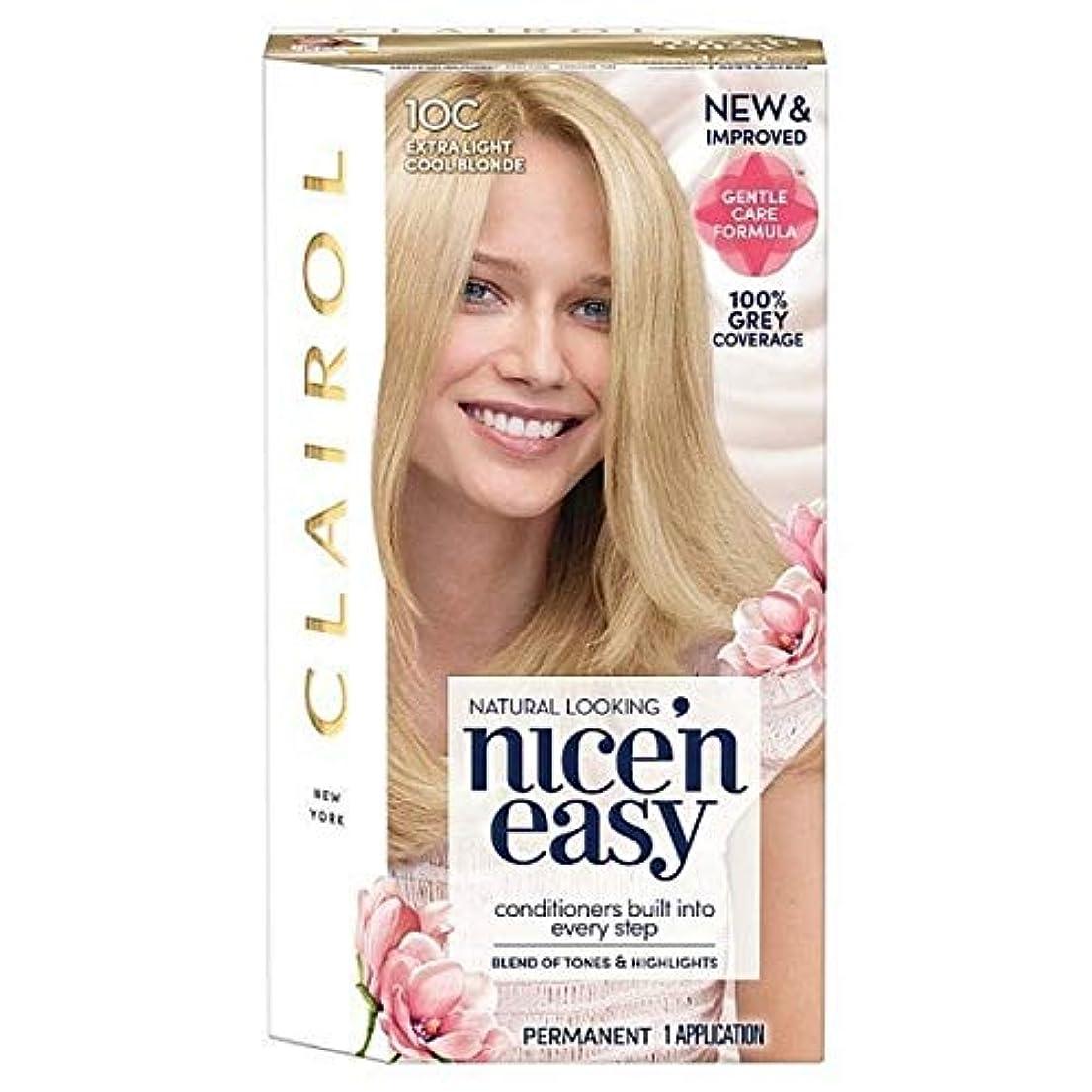 つま先イーウェル告発者[Nice'n Easy] Nice'N簡単10Cの余分な光をクールブロンド - Nice'n Easy 10C Extra Light Cool Blonde [並行輸入品]