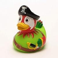 DUCKSHOP | Rubber Duck Pirate parrot | Bathduck | L: 8,5 cm by Duckshop