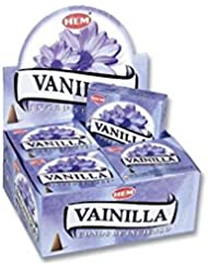 HEM お香 バニラ(VANILLA) コーンタイプ 1ケース(12箱入り) HEMお香