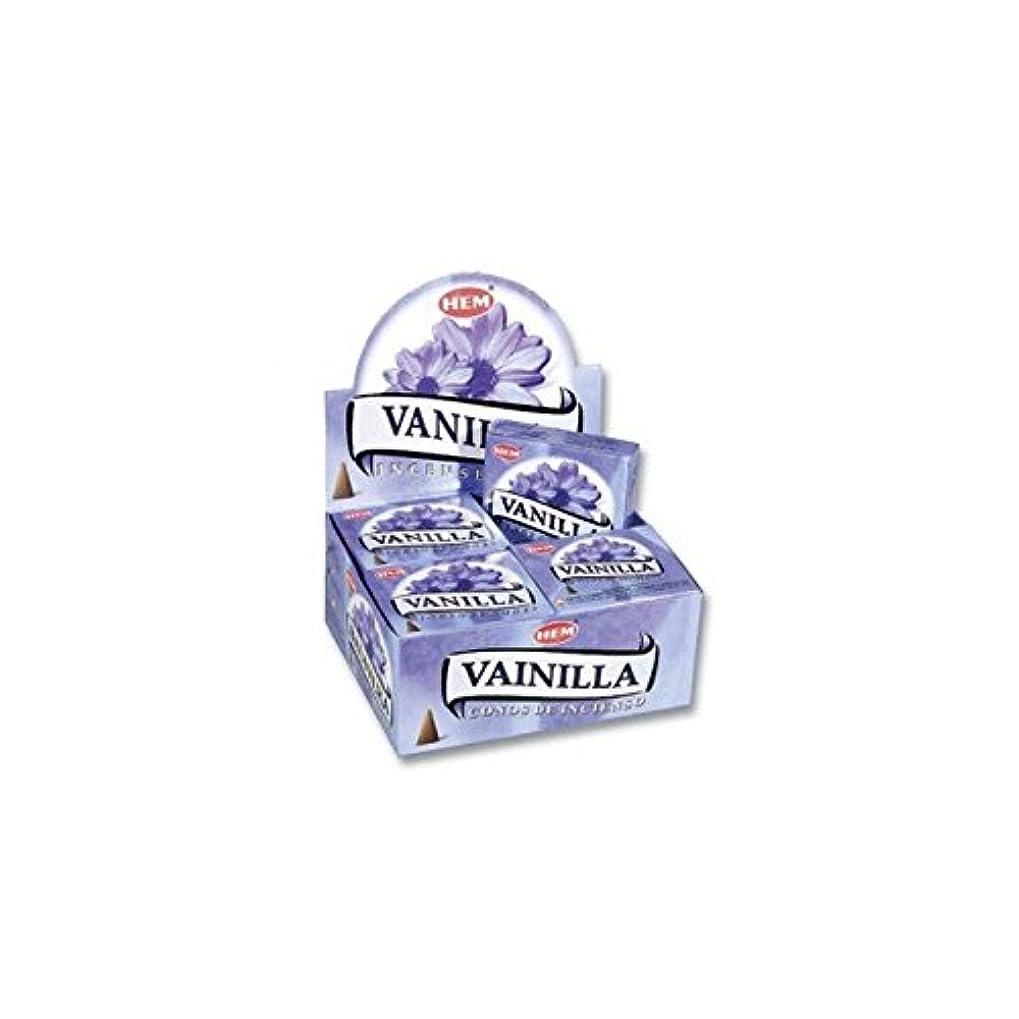 世論調査ラビリンス国HEM お香 バニラ(VANILLA) コーンタイプ 1ケース(12箱入り) HEMお香