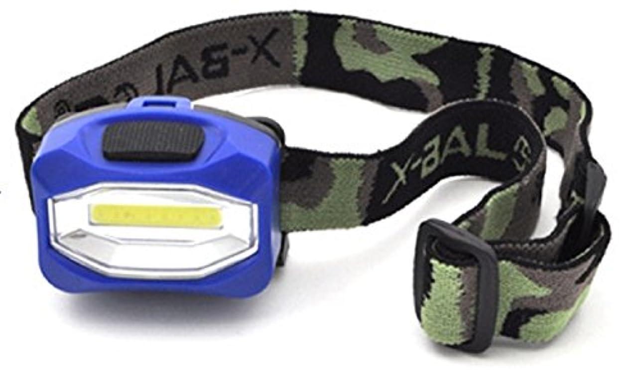昇る曖昧な発行するPLATA 高輝度 LEDヘッドライト 【 ブルー 】 暗所作業 防災用品 レジャー アウトドア 登山 に
