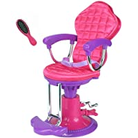 Doll Salon Chair for 18 Inch American Girl Doll, Perfect Salon Chair for Brushing Your Dolls Hair, Doll Hair Care Set