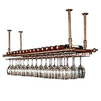 ワインラックホルダーをぶら下げ壁に取り付けられたワインラックワイングラスハンガーワイングラス逆さまワイングラスワインラックヨーロッパのレトロなバーホームレストラン調節可能な高さブラック/ブロンズ (Color : Bronze, Size : 80x30cm)