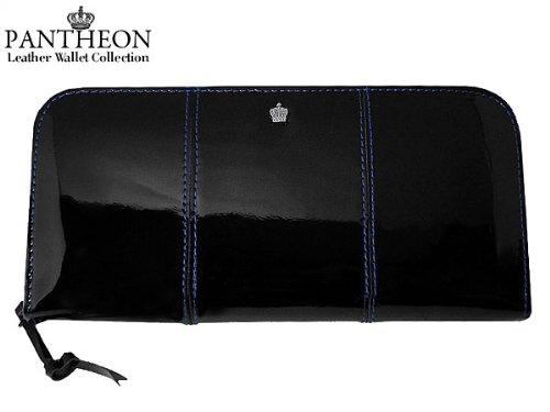 パンティオン PANTHEON 長財布 ブラック/ブルー 1...