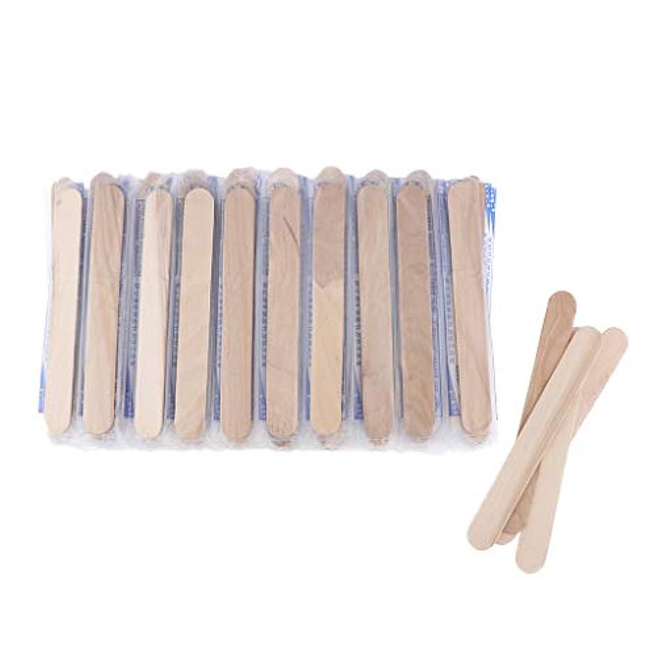 不適創始者口述約100個 木製 スパチュラ 脱毛ワックス塗布用 眉毛 顔 唇 脇の下 鼻 耳 口ひげ