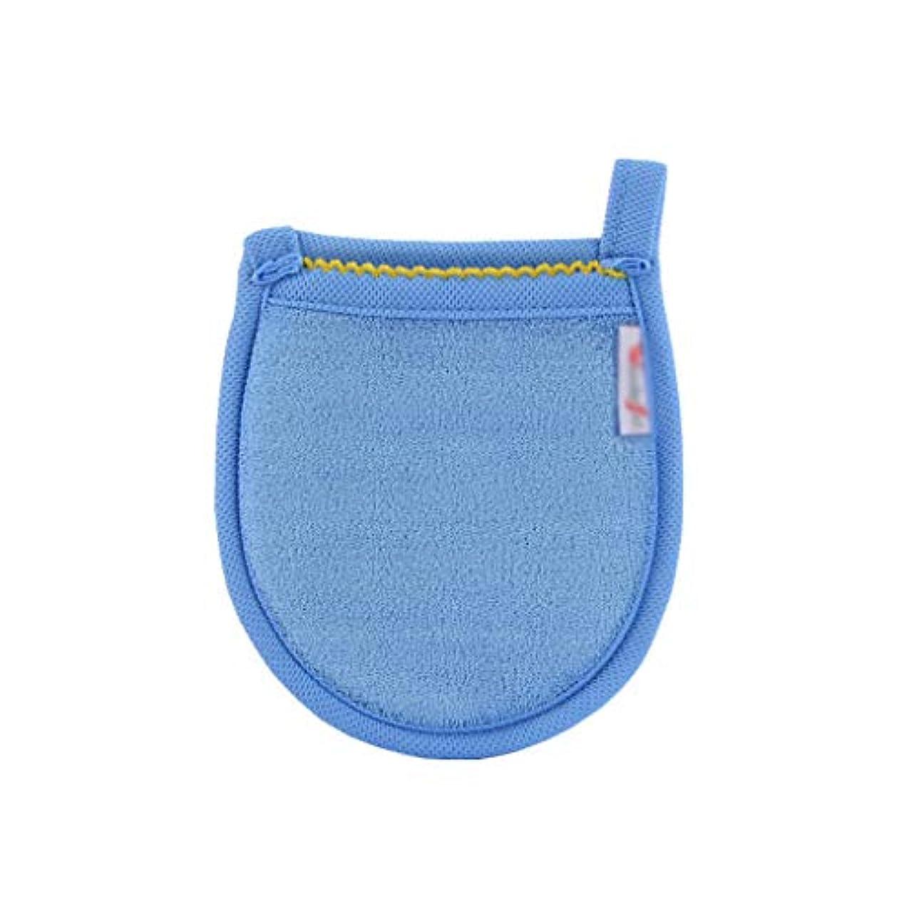 寂しい日記持つ化粧パッド 再利用可能なマイクロファイバーフェイシャルクロスフェイスタオルメイク落としグローブツール美容フェイスケアタオル5色 メイク落とし化粧パッド (Color : Blue)