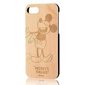 イングレム iPhone7ケース ディズニー ウッドケース/ミッキーマウス  IN-DP7W/MK