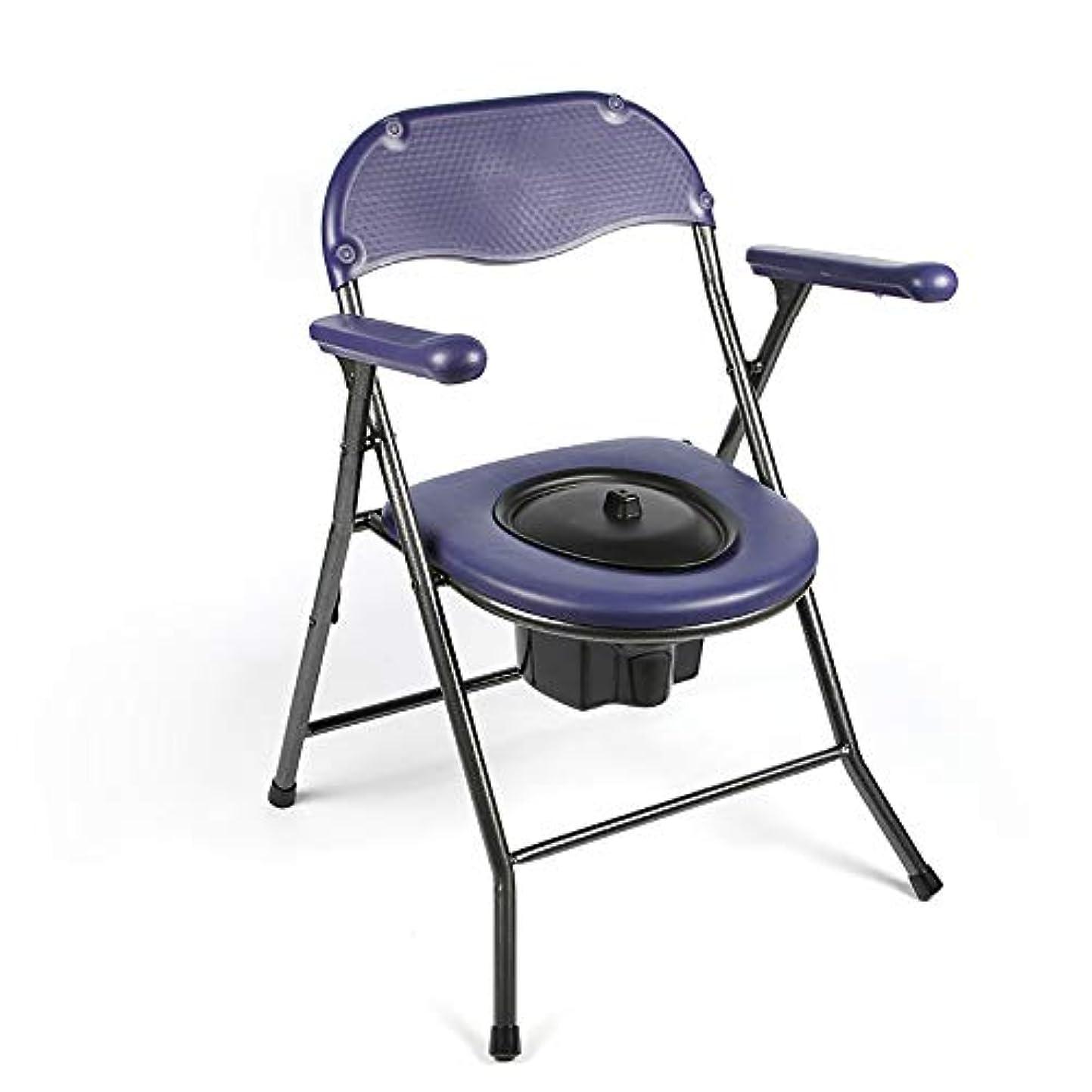ミリメートル悲しむしばしば折りたたみ便器トイレ、バケツ付き高齢者便器チェア、旅行トイレコンフォートキャンプ、ハイキング、旅行、建設現場の椅子Toliet