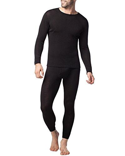 (ラパサ) Lapasa メリノウール あったかインナー 防寒肌着 長袖シャツ 長ズボン下 アウトドアインナー ベースレイヤー 登山 M31