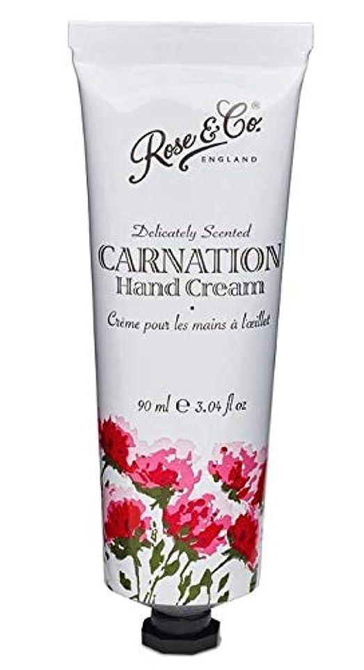 喉が渇いたパトロン牧師Rose & Co. ビンテージ フローラルハンドクリーム(カーネーション)