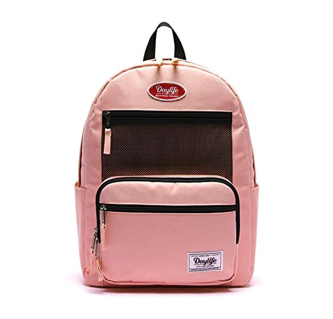 戦闘笑通路[デーライフ] Daylife Layer Plus Backpack メッシュ バックパック かわいい リュック 女子高生 旅行バッグ [並行輸入品] (ベビーピンク)