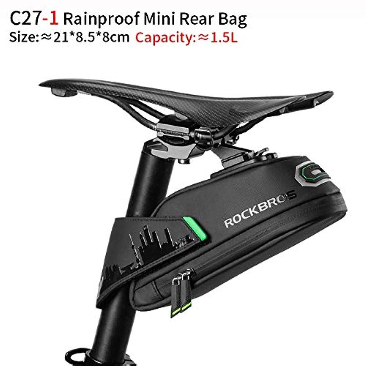 外国人不誠実有効化ZSBH 防雨自転車バッグ耐衝撃バイクサドルバッグについてはRefletiveリア大CapatityシートポストMTBバイクバッグアクセサリー (Color : Big Black Bike Bag)
