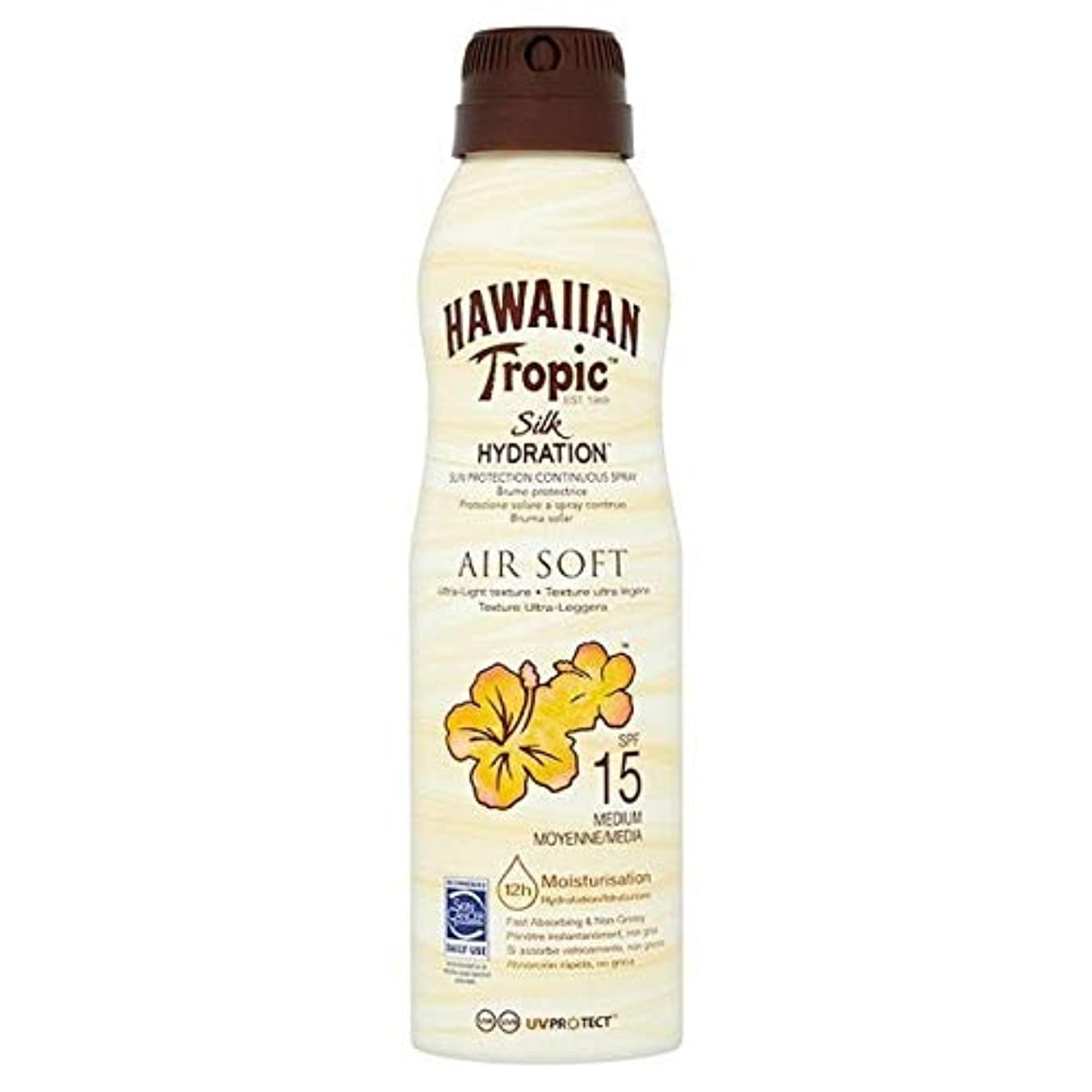 [Hawaiian Tropic ] H /向性絹水和エアガン連続スプレーSpf15の177ミリリットル - H/Tropic Silk Hydration Airsoft Continuous Spray SPF15...