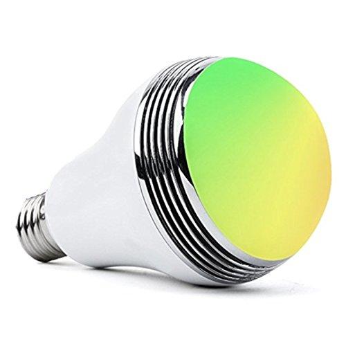 スマートLED電球- Matchdor LED音楽電球 26mm口金直径 ワイヤレススピーカー内蔵 RGB調色・調光タイプ マルチカラー ワイヤレスBluetooth4.0 APPコントロール 省エネLED音楽電球 【2年安心保証付き】