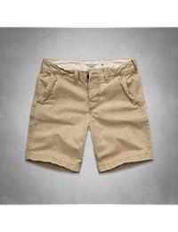【30 32 インチ】アバクロ ショートパンツ カーキ A&F Preppy Fit Shorts アメカジ