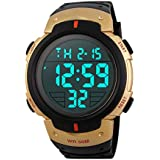 ADDYYA メンズウォッチ 防水 電子腕時計 アウトドア スポーツマンシップ ボーイズ 大きな文字盤 ファッショントレンド スポーツ アウトドア (カラー:ゴールド)