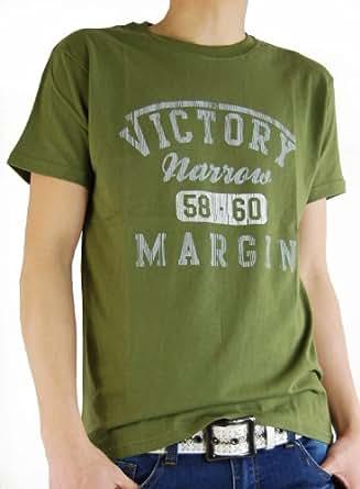 ARCADE(アーケード) 25color アメカジ ロゴプリント Tシャツ メンズ A柄オリーブカーキ M