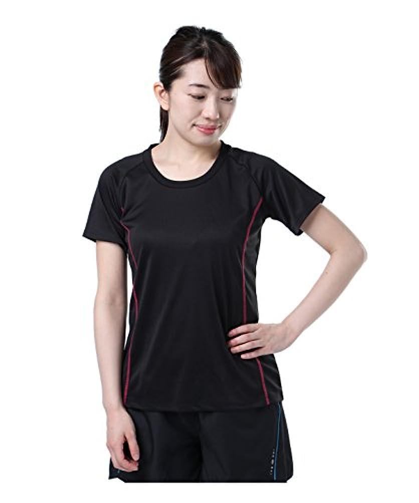 引き潮狂乱解放するビジョンクエスト スポーツウェア 半袖Tシャツ RUNTシャツ VQ561007H01 BK/MG L