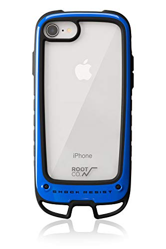 【ROOT CO.】[iPhone8/7専用]ROOT CO. Gravity Shock Resist Case +Hold. (ブルー)