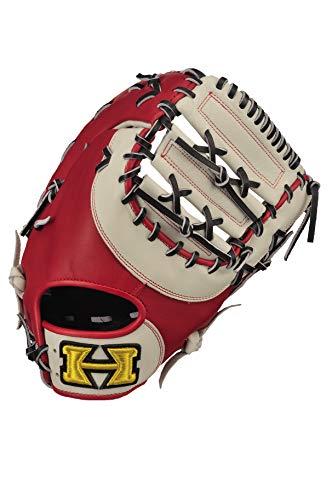 Hi-GOLD(ハイゴールド) ソフトボール 一塁手用 兼 捕手用ミット ベーシックシリーズ BSG-84F ホワイト×レッド×ブラック RH(左投用)