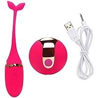 振動卵、防水10周波数シリコンジャンプ卵 - 男性または女性のための最高のマッサージ ( Color : Red )