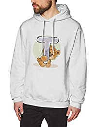 BerryeE座って 抱いている アルファベットT ぬいぐるみ ベア パーカー メンズ Tシャツ 長袖 無地 個性 通勤 ゲーム ジョギング ファッション スウェット カジュアル フード付き ロゴ プルパーカー 男女兼用 秋冬