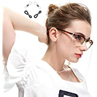 Xiang Ru Glasses Chain with Flower Eyeglass Cord Strap Sunglass Holder Lanyard Spectacles Holder
