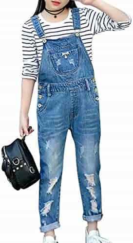 99f1aae17 AMIGOYO Kids Girls Denim Pants Jeans Star Damage Kids Clothes Long Pants  Bottoms Leisure Stretch Jeans