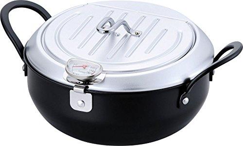 和平フレイズ 鉄製蓋付天ぷら鍋 20cm IH対応 温度計付き 日本製 TM-9467