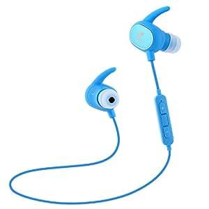 SoundPEATS Bluetooth イヤホン 高音質 [メーカー直販/1年保証付] Bluetooth 4.1 apt-Xコーデック採用 防水防滴 スポーツ仕様 ワイヤレス イヤホン マイク内蔵 ハンズフリー通話 CVC6.0 ノイズキャンセリング搭載 Bluetooth ヘッドホン Q15 ブルー