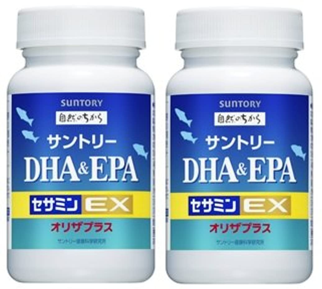 指標爆風【2個セット】サントリー DHA&EPA+セサミンEX 240粒